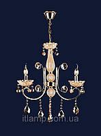 Люстра классическая с янтарными стразами art702lst7012_3золото