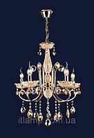 Люстра классическая с янтарными стразами art702lst7012_5золото