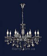 Люстра классическая с черными стразами art702lst7025_8хром+черн