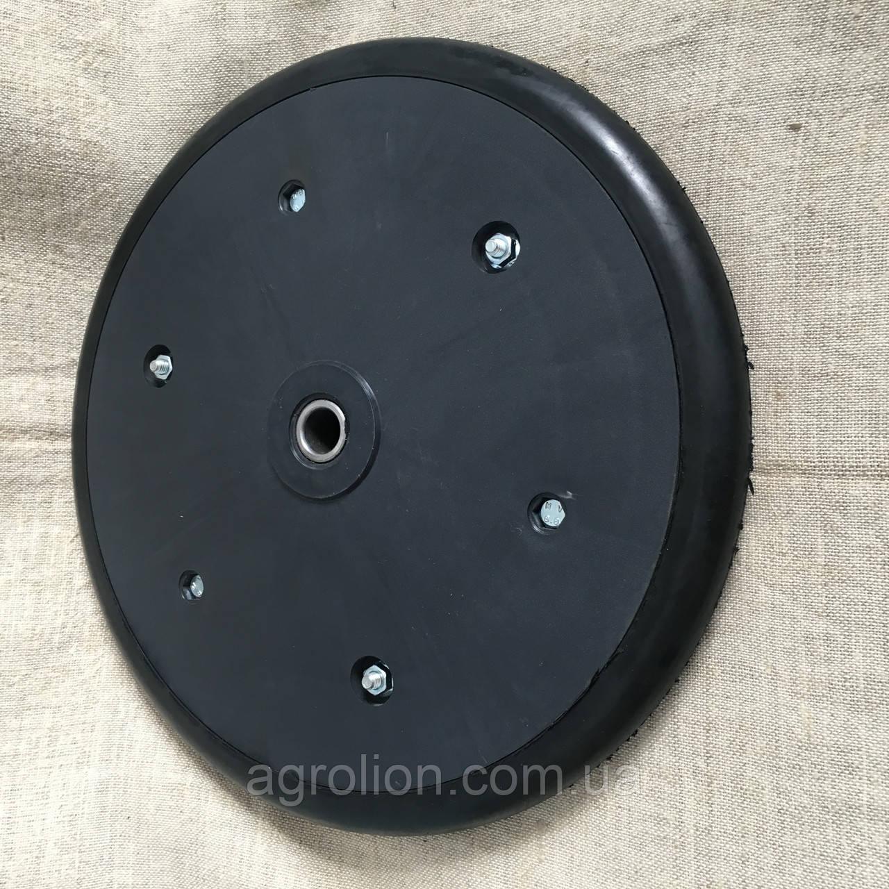 """Прикотуюче колесо в зборі ( диск поліпропілен ) з підшипником  1"""" x 12"""", John Deere,  AA39968"""