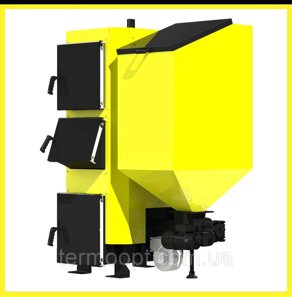 Пеллетный твердотопливный котел с автоматической подачей топлива Kronas Combi 27 кВт. до 270 м. кв.