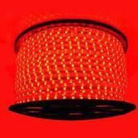 Світлодіодна LED стрічка 5050smd 220V IP68 червона 60 LED