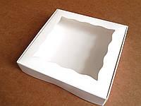 Коробка для текстиля Картон, С откидной крышкой, 15.5х15.5х3, Коробка, Квадрат, Белый