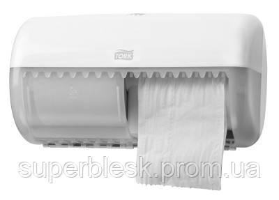 Диспенсер для туалетной бумаги в рулонах Tork Twin белый