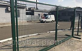 Ворота из сварной сетки 1,20х2,5м оцинкованные