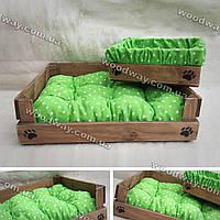 Деревянный лежак с боксом для хранения игрушек
