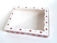 Коробка для текстиля Картон, С откидной крышкой, 15х20х3, Коробка, Прямоугольная, Вишиванка