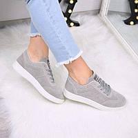 Кроссовки женские Blame серые 3540, полуботинки женские, обувь дропшиппинг