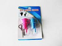Пробка для бутылки с дозатором пластмассовые, в наборе 2 штуки d 2,2 cm, L 4,5 cm.