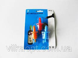 Пластмасові Пробки в наборі з 3-х з дозатором