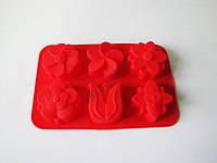 Форма силиконовая на планшете 16*26см из 6-ти  Цветы  VT6-19113(144шт)