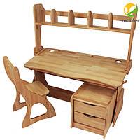 Комплект: Парта ,стульчик, настройка, тумба на колесиках (р112-1,с300,н112,тв101)