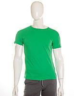 Футболка Атлет зеленая хлопок