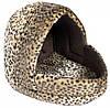 Домик Trixie Leo Cuddly Cave плюш и полиэстер, леопардовый принт, 40х35х35 см