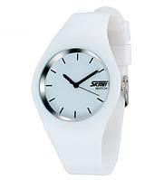 Мужские часы наручные Skmei Rubber White