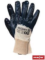 Защитные рукавицы, покрытые нитрилом, завершенные трикотажной резинкой RECONIT BEG