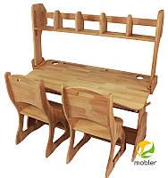 Комплект: Парта ,два стульчика, настройка (р112-1,с300,н112,)