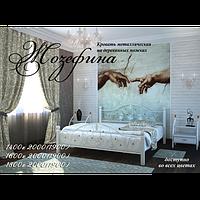 """Металлическая кровать на деревянных ножках """"Жозефина"""""""
