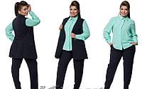 Женский деловой батальный костюм-тройка. Много цветов!