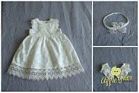 """Нарядное летнее платье """"Декоста"""" для крещения и на годик, фото 1"""