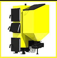 Пеллетный твердотопливный котел с автоматической подачей топлива Kronas Combi 62 кВт. до 620 м. кв.