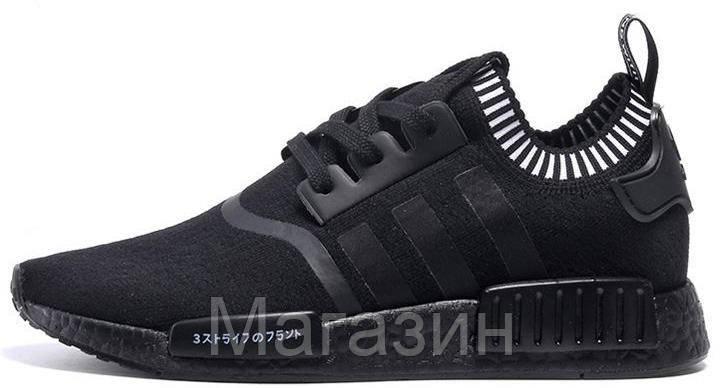 cf0c4a29 Мужские кроссовки Adidas NMD R1 Primeknit Japan Black (в стиле Адидас НМД)  черные -