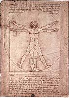 "Декор: Ретро стиль - Леонардо да Винчи   ""Витрувианский человек"""