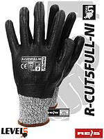 Защитные рукавицы, покрытые нитрилом R-CUT5FULL-NI BWB