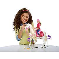 Игровой набор кукла Барби Всадница и Интерактивная Лошадь Мечты - Barbie Dreamhouse FRV36, фото 5