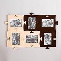 Дизайнерская мультирамка Пазл на 6 фотографии, фото 1