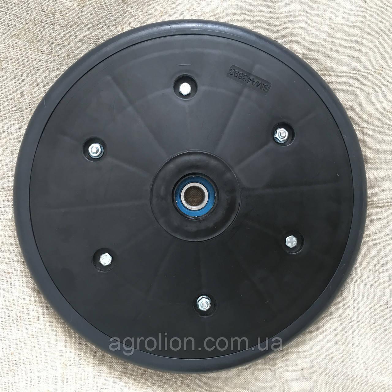 """Прикотуюче колесо в зборі ( диск поліамід) з підшипником  1"""" x 12"""", John Deere, AA43898"""