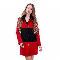 Двухцветное пальто женское демисезонное в 2х цветах MJ-2