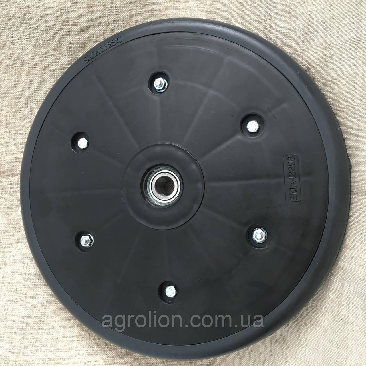 """Прикотуюче колесо в зборі ( диск поліамід) з підшипником  1"""" x 12"""", John Deere, AA34211"""