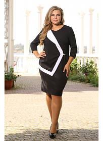 Женское платье рукав 3/4 Квест размер 48-72 / большие размеры