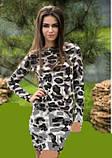 Платье женское ангоровое серого цвета, платье леопардовое по фигуре, фото 2