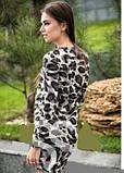 Платье женское ангоровое серого цвета, платье леопардовое по фигуре, фото 4