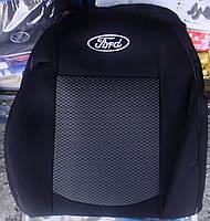 Автомобильные чехлы на сидения Ford Conect (1+1) без столиков c 2009-13 г