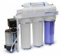 Система обратного осмоса Aqualine RO-5 с помпой