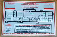 Информация, необходимая для разработки макета плана эвакуации