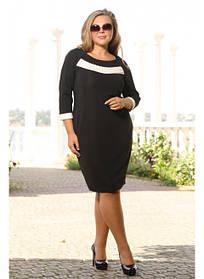 Женское платье миди Жемчужина размер 48-72 / большие размеры