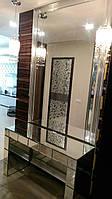 Зеркальный стол с фацетными элементами