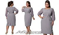 Деловое платье большого размера ТМ Минова ( р. 50-56 )