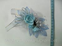 Свадебная бутоньерка № 1 (голубая)