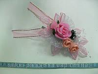 Свадебная бутоньерка № 1 (розовая)