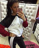 Стильный женский спортивный костюм со свободным верхом,трикотаж