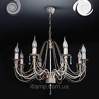 Люстра с хрусталем asfour 8 свечей Nbl19902_белый/золото