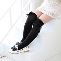 Гольфы - чулки для девочки  Черные нарядные Оптом