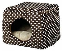 Домик-трансформер Trixie Mina Cuddly Cave плюшевый, коричневый, 40х32х40 см, фото 1