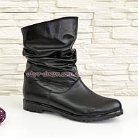 Женские кожаные демисезонные ботинки свободного одевания., фото 1