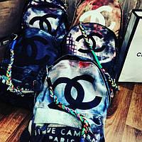 Рюкзаки Шанель Распродажа  Chanel Graffiti Женский модный яркий рюкзак Шанель в цвете